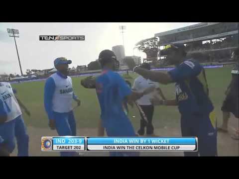 Best Last Over Finish by MS Dhoni - India VS Sri Lanka Cricket Match