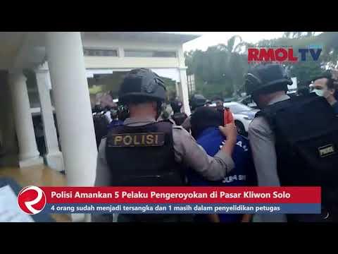 Polisi Amankan 5 Pelaku Pengeroyokan di Pasar Kliwon Solo