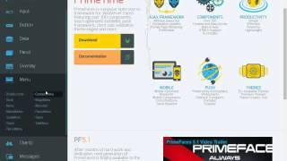 Uso de Plantilla y Menu de Primefaces en JSF