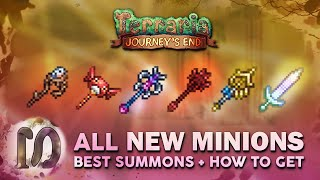 All New Minions/ Summons/ Summoner Staffs - Terraria 1.4 Journey's End - How to get summon weapons