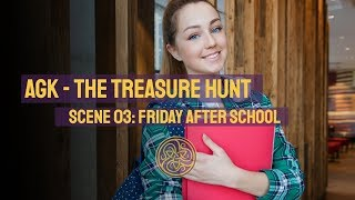 AGK - The Treasure Hunt. Scene 03: Friday After School. With Shelley Carney and Toby Younis. 2020 07