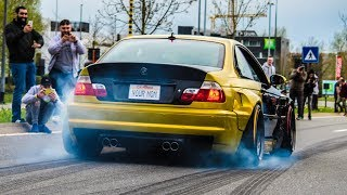 Modified cars & Supercars leaving a Carshow   GR8-ICS 2018