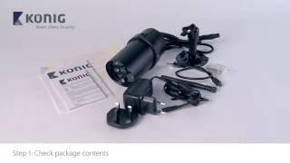 Konig SAS-CLALIPC20 – Wi-Fi outdoor camera installation iOS – ENG