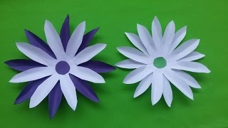 Paper flower diy party flowers decor home decor kids project how to make paper flowers sun flower home decorating flowers making tutorial mightylinksfo