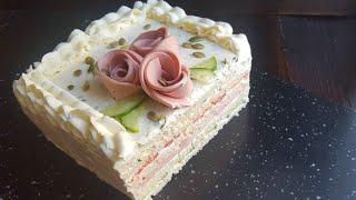 МУЖСКОЙ закусочный ТОРТ🍔SANDWICH cake recipe
