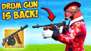 THE *DRUM GUN* IS BACK!   Fortnite Funny Fails And WTF Moments! #482