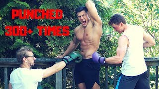 Punched 300+ TIMES in the ABS with Boxing Gloves | Bodybuilder VS Crazy Boxer Challenge