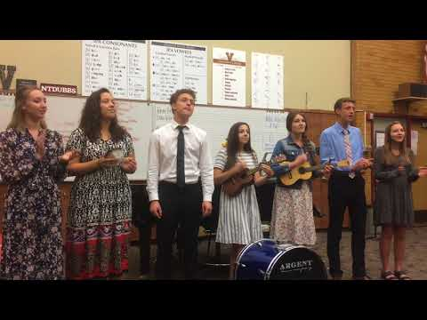 A choir project that I organized with some friends. It was a fun challenge to sing and play the uke and kick drum all at the same time!