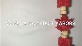 Canada Day Fruit Kabobs