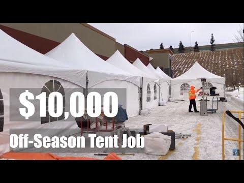$10,000 Off-Season Tent Setup
