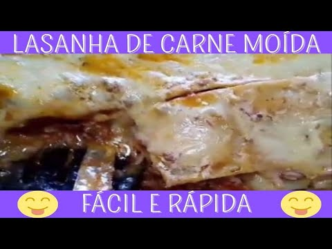 LASANHA SIMPLES DE CARNE MOIDA