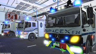 Emergency Call 112 - SpaceX Firefighters Responding! 4K