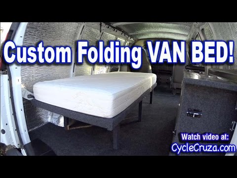 Bug Out Camper Van Build Part 4 | Folding Bed | Brentwood RV Mattress Review | Portable Toilet