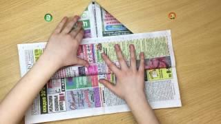 Шляпа из газеты своими руками как сделать схема