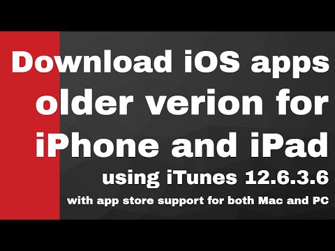 How to download older version ios 9.3.5 apps | iTunes 12.6.3.6 with Mac and PC