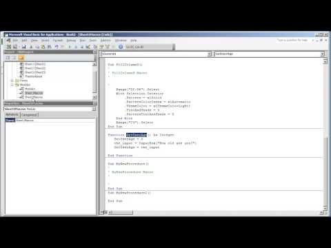 VBA Programming for Excel 2010 - V2.04 - Calling and Combining Sub Procedure Macros