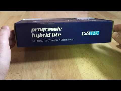 Edision progressiv hybrid lite DVB-C/T digital Kabel/Terrestrischer Receiver unboxing und Anleitung