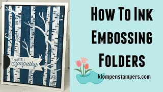 Inking Embossing Folders Technique