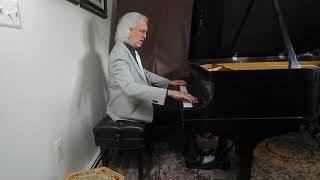 Left Hand Walking Bass Piano Blues - Andy Wasserman Livestream concert on Steinway