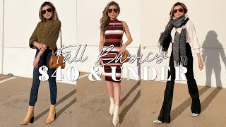 Affordable Fall Basics $40 & under   Walmart Try-On Haul 2020 Clothing Bags Shoes Scoop   Miss Louie