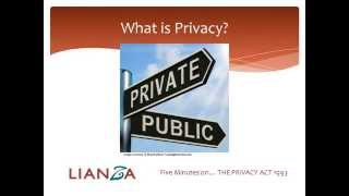 5 Minutes on the Privacy Act 1993