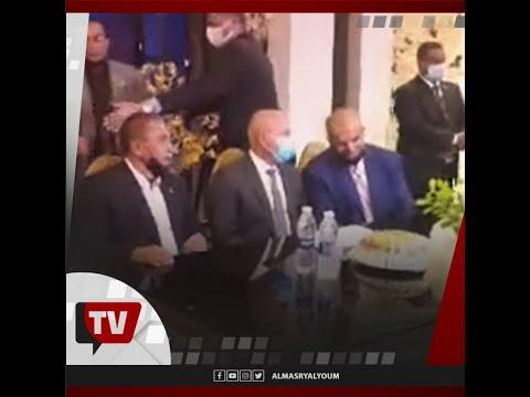 وزير النقل يشهد على كتب كتاب لموظف في كوم أبو راضي ببني سويف