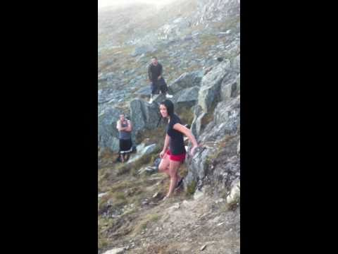 Hot Chick Cliff Dives In Alaska