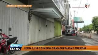 Gempa 66 SR Di Sumbawa Dirasakan Warga Di Makassar