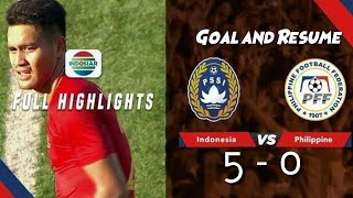 Indonesia Vs Filipina 🔥 Full Highlights & Goal Merlion Cup 2019