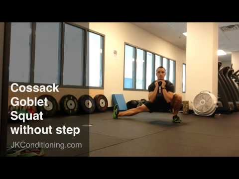 Cossack Goblet Squats Challenge Your Hip Muscles And Your Balance