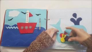 Fabuloso librito de fieltro sensorial ideal para niños y niñas con necesidades educativas especiales