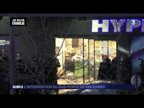 Paris, French Police assault on supermarket and kill terrorist [uncensored(無修正)]