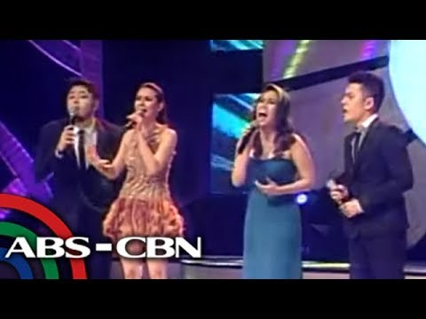 Gary, Martin, Pops, Kuh, Zsa Zsa serenaded by their kids