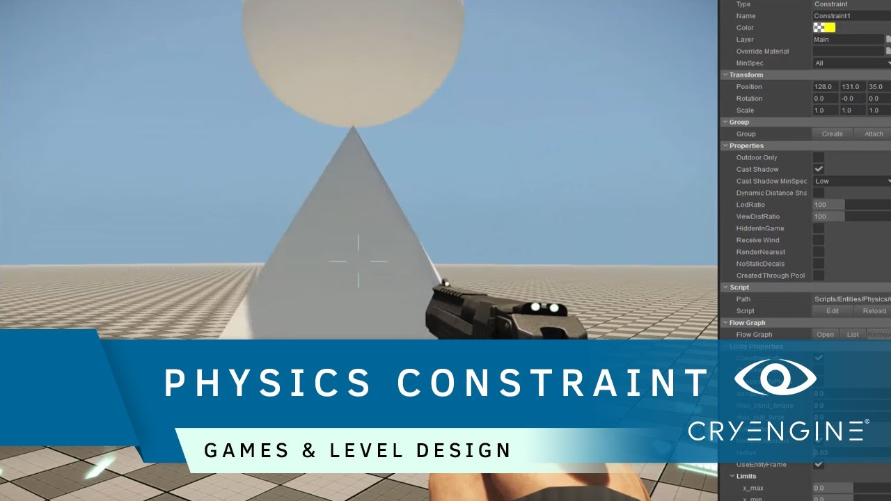 How to use the Physics Constraint Entity | Game & Level Design