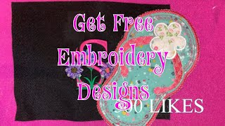 FREE EMBROIDERY DESIGNS! We Need You To Help Make This Channel BIG!!😬