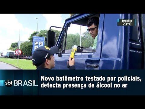 Novo bafômetro testado por policiais, detecta presença de álcool no ar