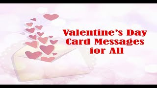 30 Best Valentine's Day Card Messages - What to Write in Valentine Card! Valentines Card messages