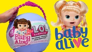Baby Alive Yay ! Toys and Dolls Fun for Kids with Toy Babies Emma and Kate and Snackin' Sara - Video Youtube