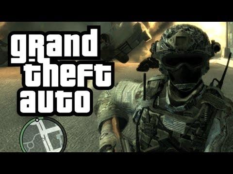 GTA 4: Call of Duty в GTA! - (Солдат + Террорист Мод Смешные Моменты)