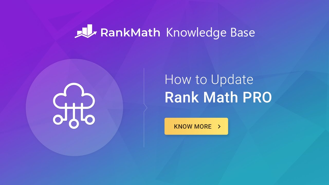 How to Update Rank Math PRO
