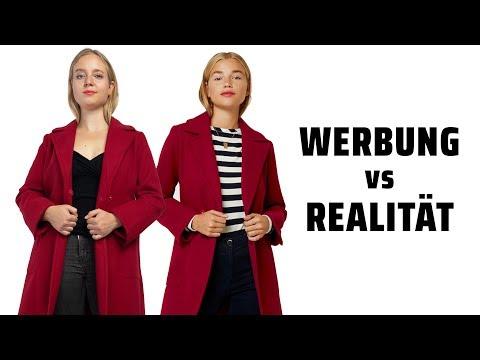 Werbung vs Realität - Mäntel für kleine Frauen!