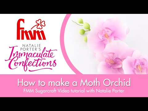 Moth orchid tutorial video from FMM Sugarcraft & Immaculate Confections