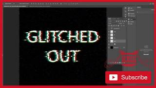 Glitched Effect Typography