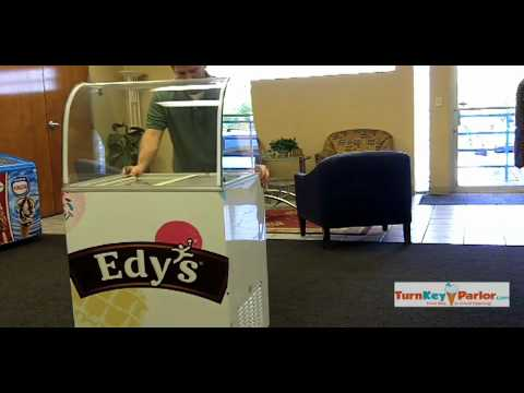 EDC4C-FOUR TUB ICE CREAM DIPPING CABINET (curved glass)