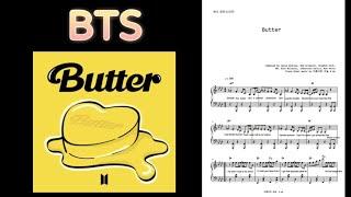 """방탄소년단 """"Butter"""" / 원곡 틀어놓고 연주하기 좋은 악보"""