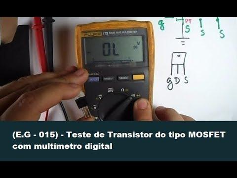 (E.G - 015) - Teste de Transistor do tipo MOSFET com multímetro digital