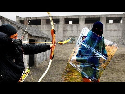 Projectile Weapons vs The Police Riot Shield (Will it Survive?) (видео)