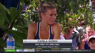 Camila Giorgi: 2019 Washington D.C. Semifinal Win Tennis Channel Interview