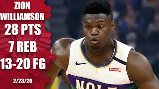 Zion Williamson shows off his full skill set vs. the Warriors   2019-20 NBA Highlights