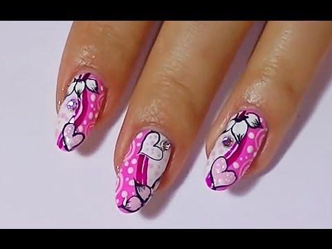 Дизайн ногтей на день Святого Валентина. Маникюр.